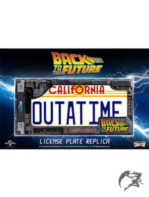 Back to the Future DeLorean Nummernschild