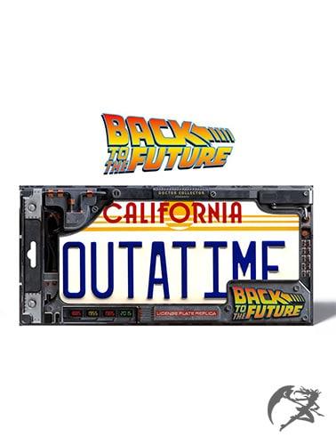 Back to the Future DeLorean Nummernschild