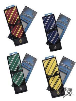 Harry Potter Krawatte und Pin Hogwarts Häuser