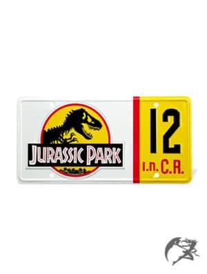 Jurassic Park Nummernschild Replika