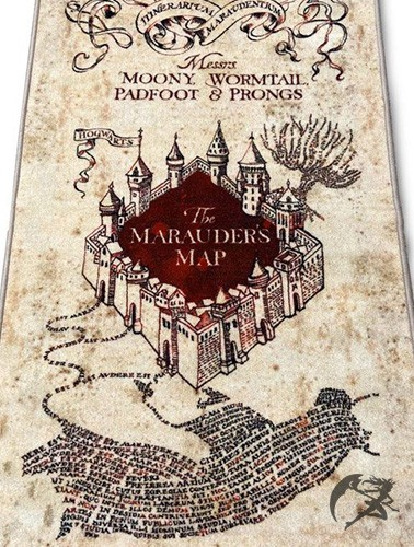 Harry Potter Marauders Map Teppich
