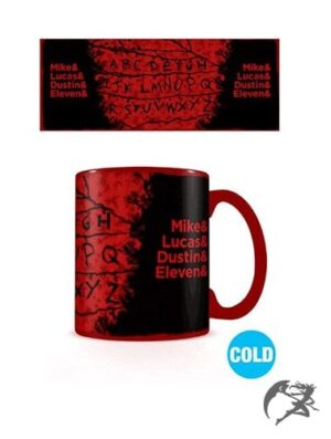Stranger Things Tasse Thermoeffekt RUN Cold