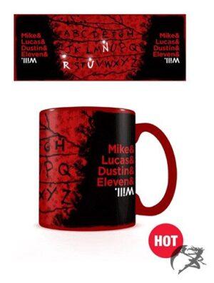 Stranger Things Tasse Thermoeffekt RUN Hot