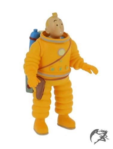 Tim und Struppi Cosmonaut Kunstharz Figur 12cm