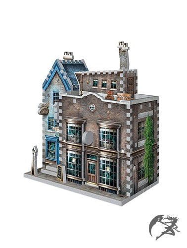 Harry Potter 3D-Puzzle DAC Ollivanders Zauberstabladen und Scribbulus
