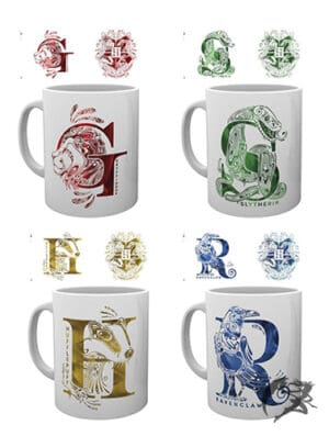 Harry Potter Hogwarts Häuser Tassen Monogram