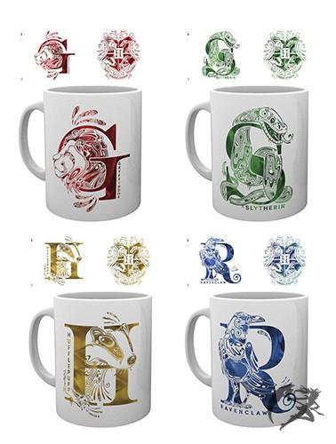 Harry Potter Hogwarts Häuser Tassen Monogram
