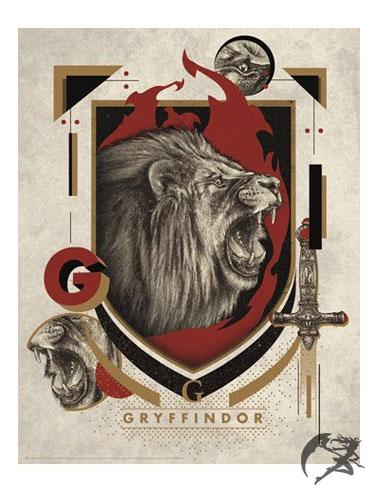 Harry Potter Kunstdruck Gryffindor 36 x 28 cm
