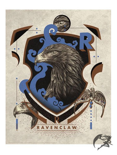Harry Potter Kunstdruck Ravenclaw 36 x 28 cm