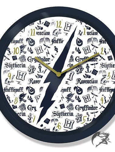 Harry Potter Wanduhr Infographic