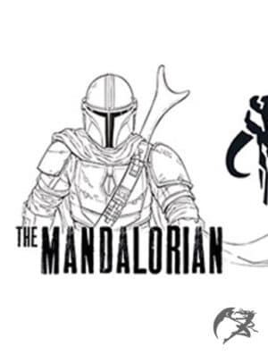 Star Wars The Mandalorian Tasse Line Art