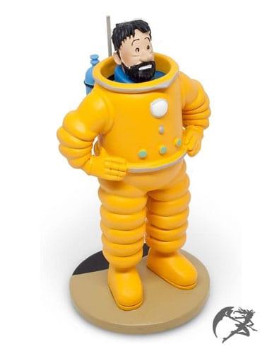 Haddock von Tim und Struppi Cosmonaut Kunstharz Figur 12cm