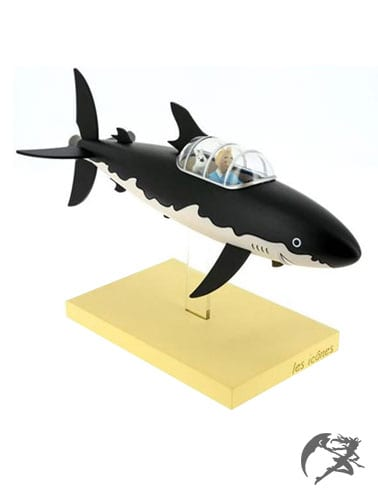 Tim und Struppi Haifisch U-Boot aus Résin